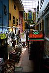 Shopping alleyway along Avenida Revolucion, Tijuana, Baja California, Mexico