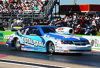 Sept. 21, 2013; Ennis, TX, USA: NHRA pro stock driver Matt Hartford during the Fall Nationals at the Texas Motorplex. Mandatory Credit: Mark J. Rebilas-