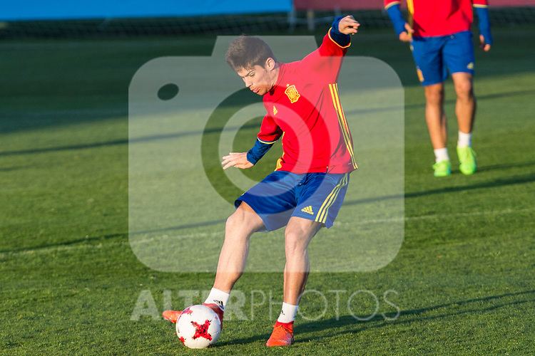 Jorge Mere during the training of Spanish national team under 21 at Ciudad del El futbol  in Madrid, Spain. March 21, 2017. (ALTERPHOTOS / Rodrigo Jimenez)