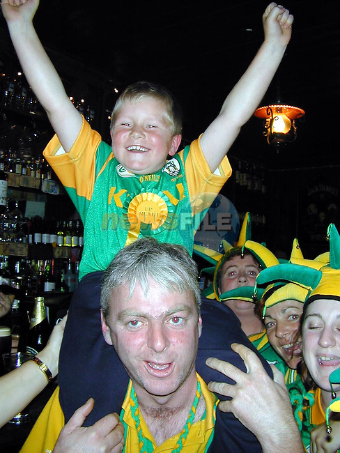 John Callan and Darren Magill celebrating in Morans on Sunday night..Picture Paul Mohan Newsfile