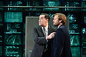 London, UK. 08.12.2015. Hampstead Theatre presents HAPGOOD, by Tom Stoppard, directed by Howard Davies. Picture shows: Tim McMullan (Blair), Nick Blakeley (Maggs). Photograph © Jane Hobson.