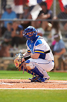 South Dakota State Jackrabbits catcher Derek Hackman (9) during a game against the FIU Panthers on February 23, 2019 at North Charlotte Regional Park in Port Charlotte, Florida.  South Dakota State defeated FIU 4-3.  (Mike Janes/Four Seam Images)