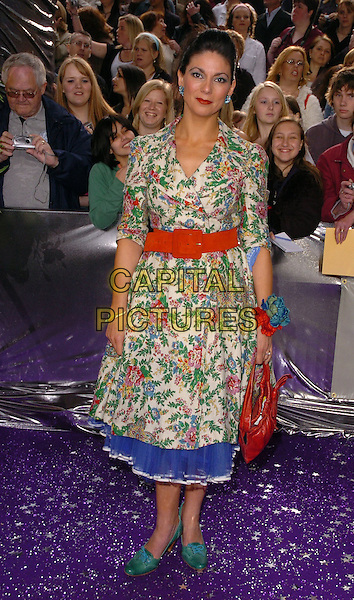 STIRLING GALLAGHER.The Brtish Soap Awards - Arrivals,.BBC Television centre, London, .London, England, May 20th 2006..full length floral patterned print dress red belt green shoes bag.Ref: CAN.www.capitalpictures.com.sales@capitalpictures.com.©Can Nguyen/Capital Pictures