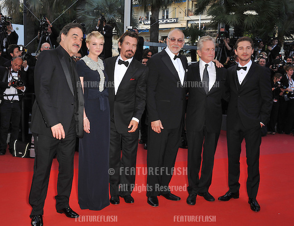 "Oliver Stone, Michael Douglas, Carey Mulligan, Shia LeBeouf, Josh Brolin & Frank Langella at the premiere screening of their movie ""Wall Street: Money Never Sleeps"" at the 63rd Festival de Cannes..May 14, 2010  Cannes, France.Picture: Paul Smith / Featureflash"