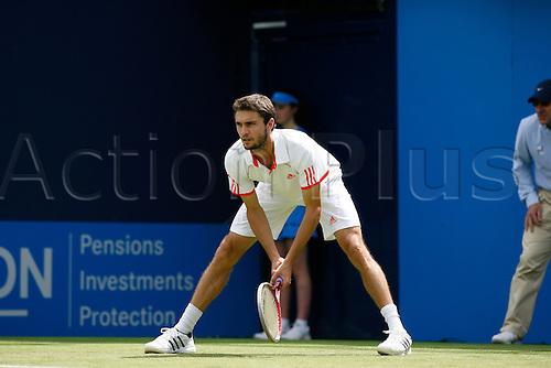 13.06.2012. Queens Club, London, England.  Gilles Simon(FRA) lost to Simone Bolelli(ITA) during their men's singles tennis match at the Queen's Club tournament in London June 13, 2012....