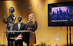 WEST HOLLYWOOD, CA - DECEMBER 12: Taye Diggs and Busy Philipps  speak onstage at the 19th Annual Screen Actors Guild Awards Nominations Announcement at the Pacific Design Center on December 12, 2012 in West Hollywood, California.
