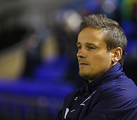 AFC Wimbledon manager Neal Ardley before the Sky Bet League 1 match between Oldham Athletic and AFC Wimbledon at Boundary Park, Oldham, England on 21 November 2017. Photo by Juel Miah/PRiME Media Images
