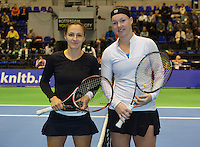 22-12-13,Netherlands, Rotterdam,  Topsportcentrum, Tennis Masters, Ladies final Olga Kalyuzhnaya(NED) and Kiki Bertens(NED)<br /> Photo: Henk Koster