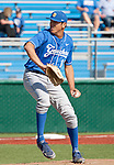 March 10, 2012:   UC Santa Barbara Gauchos pitcher Andrew Vasquez throws against the Nevada Wolf Pack during  their NCAA baseball game played at Peccole Park on Saturday afternoon in Reno, Nevada.