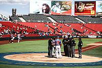 Acciones, durante el partido de beisbol entre<br /> Criollos de Caguas de Puerto Rico contra las &Aacute;guilas Cibae&ntilde;as de Republica Dominicana, durante la Serie del Caribe realizada en estadio Panamericano en Guadalajara, M&eacute;xico,  s&aacute;bado 4 feb 2018. <br /> (Foto  / Luis Gutierrez)