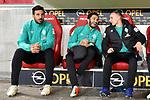 04.11.2018, Opel-Arena, Mainz, GER, 1 FBL, 1. FSV Mainz 05 vs SV Werder Bremen, <br /> <br /> DFL REGULATIONS PROHIBIT ANY USE OF PHOTOGRAPHS AS IMAGE SEQUENCES AND/OR QUASI-VIDEO.<br /> <br /> im Bild: Die Bank mit Claudio Pizarro (SV Werder Bremen #4), Nuri Sahin (SV Werder Bremen #17), Johannes Eggestein (SV Werder Bremen #24)<br /> <br /> Foto © nordphoto / Fabisch