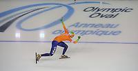 SCHAATSEN: CALGARY: Olympic Oval, 10-11-2013, Essent ISU World Cup, 1000m, Lotte van Beek (NED), Nederlands record 1.13,36, ©foto Martin de Jong