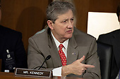 Senator John Kennedy, Republican of Louisiana, speaks as Democrats and Republicans debate during a hearing before the United States Senate Judiciary Committee to consider the nomination of Judge Brett Kavanaugh to be an Associate Justice of the US Supreme Court to replace the retiring Justice Anthony Kennedy on Capitol Hill in Washington, DC on Tuesday, September 4, 2018.Credit: Alex Edelman / CNP