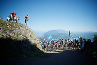 First grupetto up the Lacets du Grand Colombier (Cat1/891m/8.4km/7.6%)<br /> <br /> stage 15: Bourg-en-Bresse to Culoz (160km)<br /> 103rd Tour de France 2016