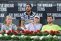 Maria Sharapova, Feliciano Lopez and Grigor Dimitrov during the match of the Charity day previus at Madrid Open Tenis 2017in  Madrid, Spain. May 04, 2017. (ALTERPHOTOS/Rodrigo Jimenez) /NORTEPHOTO.COM