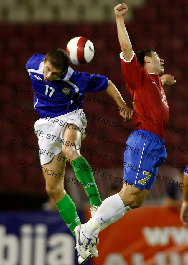 fudbal, kvalifikacije za EURO 2006&amp;#xA;SRBIJA-AZERBEJDZAN&amp;#xA;MARJAN MARKOVIC &amp; MUZIKA YURIY&amp;#xA;BEOGRAD, 02.09.2006.&amp;#xA;FOTO: STARSPORT<br />