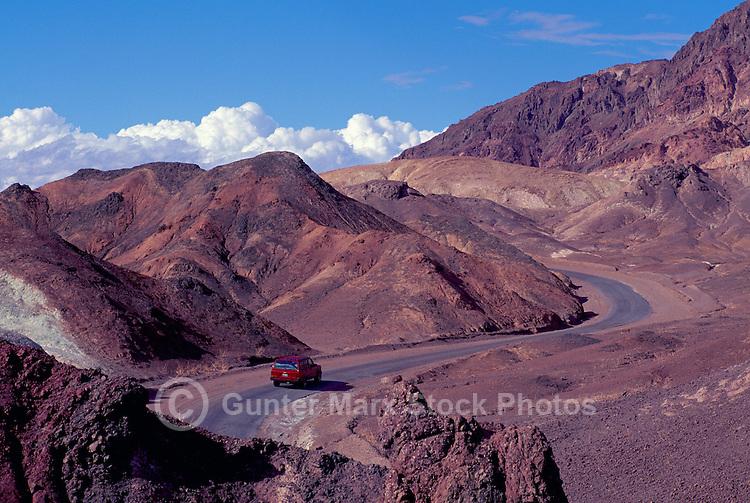 Death Valley National Park, California, CA, USA - Artist's Drive Road winding through the Black Mountains (Amargosa Range) near Artist's Palette