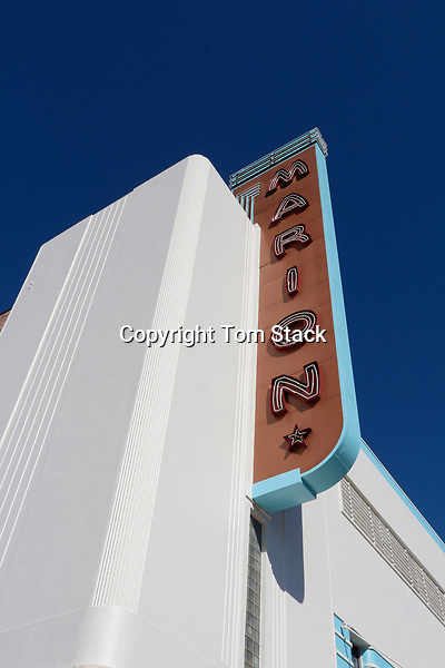 The historic, landmark Marion Theatre in downtown Ocala, Florida