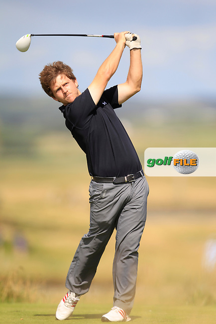 Shaun O'Connor (Luttrellstown) on the 13th tee during the South of Ireland Amateur Open Championship 4th Round at Lahinch Golf Club  29th July 2013 <br /> Picture:  Thos Caffrey / www.golffile.ie