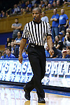 03 December 2015: Referee Eric Brewton. The Duke University Blue Devils hosted the University of Minnesota Golden Gophers at Cameron Indoor Stadium in Durham, North Carolina in a 2015-16 NCAA Division I Women's Basketball game. Duke won the game 84-64.