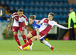 George Green tackles by Andy Halliday as James Tavernier keeps tabs