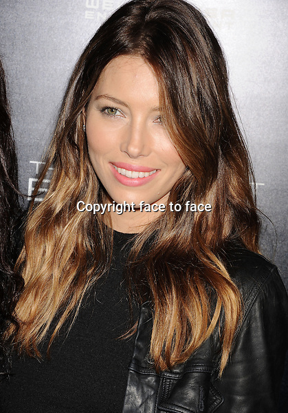 HOLLYWOOD, CA- DECEMBER 04: Actress Jessica Biel arrives at the 'The Truth About Emanuel' - Los Angeles Premiere - Arrivals at ArcLight Hollywood on December 4, 2013 in Hollywood, California.<br />