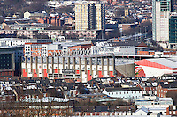 Sheffield United football club stadium in the centre of Sheffield