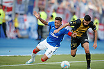 01.08.2019 Progres Niederkorn v Rangers: James Tavernier and Metin Karayer
