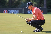 Thomas Pieters (BEL) during the third round of the Turkish Airlines Open, Montgomerie Maxx Royal Golf Club, Belek, Turkey. 09/11/2019<br /> Picture: Golffile | Phil INGLIS<br /> <br /> <br /> All photo usage must carry mandatory copyright credit (© Golffile | Phil INGLIS)