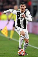 Cristiano Ronaldo of Juventus in action during the Uefa Champions League 2018/2019 round of 16 second leg football match between Juventus and Atletico Madrid at Juventus stadium, Turin, March, 12, 2019 <br />  Foto Andrea Staccioli / Insidefoto