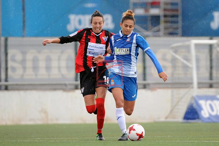 Spanish Women's Football League Iberdrola 2017/18 - Game: 18.<br /> RCD Espanyol vs Sporting Huelva: 1-0.<br /> Sandra Castello vs Letti Sevilla.