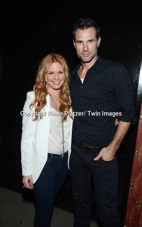 Terri Conn and husband Austin Peck attends the  Daytime Stars and Strikes Charity Event benefitting The American Cancer Society on October 13, 2013 at Bowlmore Lanes in Time Square in New York City.