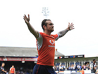 Jack Marriott of Luton Town celebrates his goal during the Sky Bet League 2 match between Luton Town and Doncaster Rovers at Kenilworth Road, Luton, England on 24 September 2016. Photo by Liam Smith.