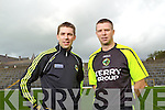 Brothers Marc O Se and Tomas O'Se at the Kerry Senior Football Team Media day at Fitzgerald Stadium on Saturday.