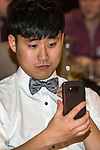 Wearing the new bow ties at the Social Dinner at the Greenbank 21 Year Reunion - Old Collegians, Kings College, Auckland, New Zealand,  Saturday, August 05, 2017.Photo: David Rowland / One-Image.com for BW Media