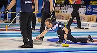 Glasgow. SCOTLAND.  Scotland &quot;Ski[&quot; Tom BREWSTER, during a &quot;Round Robin&quot; Game. Le Gruy&egrave;re European Curling Championships. 2016 Venue, Braehead  Scotland<br /> Tuesday  22/11/2016<br /> <br /> [Mandatory Credit; Peter Spurrier/Intersport-images]