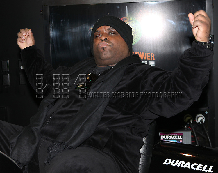 Recording artist Cee Lo Green visits the Duracell Mobile Smart Power Lab in New York City.