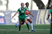 8 November 2015:  Marshall Forward Erin Simmons (32) advances the ball in the first half as the University of North Texas Mean Green defeated the Marshall University Thundering Herd, 1-0, in the Conference USA championship game at University Park Stadium in Miami, Florida.