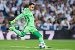 Goalkeeper Keylor Navas of Real Madrid in action during their 2016-17 UEFA Champions League Quarter-finals second leg match between Real Madrid and FC Bayern Munich at the Estadio Santiago Bernabeu on 18 April 2017 in Madrid, Spain. Photo by Diego Gonzalez Souto / Power Sport Images