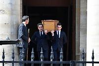 OBSEQUES DE COLLETTE AIGNAN, MERE DE NICOLAS DUPONT-AIGNAN, EN L' EGLISE SAINT PIERRE DU GROS CAILLOU, PARIS, 04/05/2017