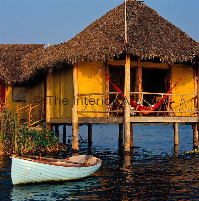 With its stilted design, thatched roof and terrace, the palafito echoes traditional Pacific coastal architecture not just from Mexico but also from Hawaii and Polynesia