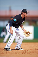 Detroit Tigers third baseman JaCoby Jones (79) during an exhibition game against the Florida Southern Moccasins on February 29, 2016 at Joker Marchant Stadium in Lakeland, Florida.  Detroit defeated Florida Southern 7-2.  (Mike Janes/Four Seam Images)