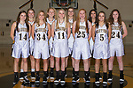 November 5, 2017- Tuscola, IL- The 2017-2018 Tuscola Girls Junior Varsity Basketball team. Back row from left are Lainey Banta, Hannah Hornaday, Marissa Russo, Hope Dietrichand Grace Voyles. Front row from left are Hannah Lemay, Brynn Tabeling, Laney Cummings, Abbey Jacob, and Morgan Jones.  [Photo: Douglas Cottle]