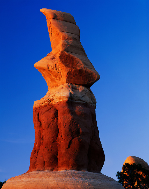 Fantastically eroded spires of Devils Garden at sunset; Devils Garden; Devils Garden Outstanging Natural Area; Grand Staircase-Escalante National Monument; Utah