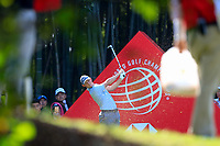 Rory McIlroy (NIR) on the 16th tee during the 3rd round at the WGC HSBC Champions 2018, Sheshan Golf CLub, Shanghai, China. 27/10/2018.<br /> Picture Fran Caffrey / Golffile.ie<br /> <br /> All photo usage must carry mandatory copyright credit (&copy; Golffile | Fran Caffrey)