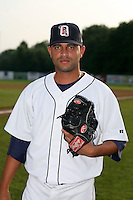 July 7th 2008:  Pitcher Luis Gil of the Oneonta Tigers, Class-A affiliate of Detroit Tigers, during a game at Damaschke Field in Oneonta, NY.  Photo by:  Mike Janes/Four Seam Images