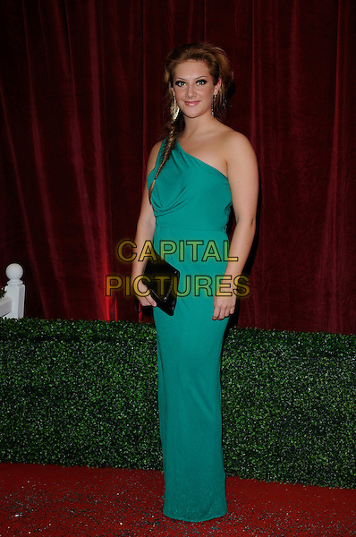 Guest .Attending the British Soap Awards 2012.at the London Television Centre, London, England, UK, 28th April 2012..arrivals full length one shoulder long maxi green dress long maxi .CAP/CAN.©Can Nguyen/Capital Pictures.