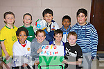 AWARE: Children from the Holy Family School, on Friday in Cuman Iosaf, wanted to make aware that they were against racism as they played in the school soccer blitz. Front l-r: Brendan Patterson, Shane McJinley, Quin O'Halloran and Jordan Murphy. Back l-r Michael Linnane, Tommy Lynch, Michael Leen, Shahariar Hossain and Michael Husar............................ ..............................   Copyright Kerry's Eye 2008