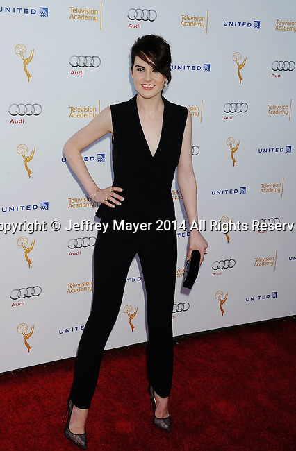 WEST HOLLYWOOD, CA- AUGUST 23: Actress Michelle Dockery arrives at the Television Academy's 66th Emmy Awards Performance Nominee Reception at the Pacific Design Center on Saturday, Aug. 23, 2014, in West Hollywood, California.