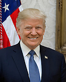Official portrait of United States President Donald J. Trump released by the White House in Washington, DC on Tuesday, October 31, 2017.<br /> Credit: US Government Publishing Office via CNP